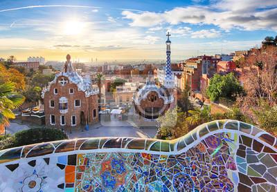 Fototapeta Barcelona - Park Güell, Španělsko