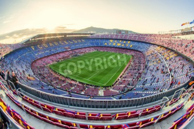 Fototapeta BARCELONA, ŠPANĚLSKO - APRÍL 19: Fotbalový stadion dne 19. dubna 2017 v Barceloně