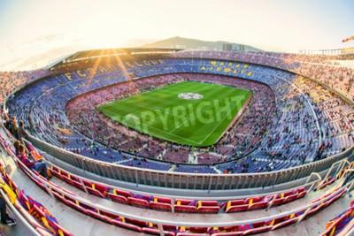 Fototapeta BARCELONA, ŠPANĚLSKO - APRIL 19: Fotbalový stadion Nou Camp 19. dubna 2017 v Barceloně