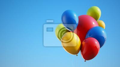 Barevné balónky s ořezovou cestou