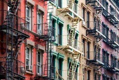 Fototapeta Barevné bytových domů v New Yorku