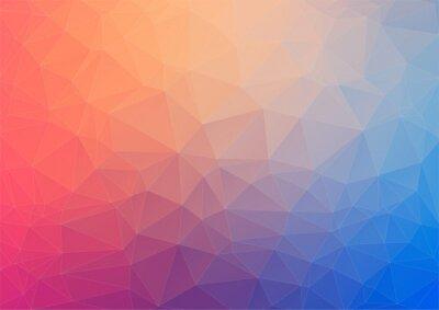 Fototapeta Barevné geometrické pozadí s trojúhelníky