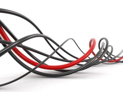 Fototapeta Barevné kabely. Obraz s ořezovou cestou.