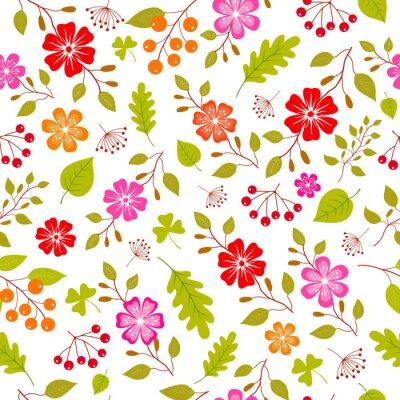 Fototapeta Barevné květiny bezproblémové vzor