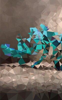 Fototapeta Barevné polygonální pozadí