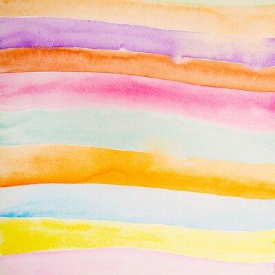 Fototapeta barevné proužky barva vody