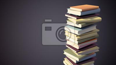 Barevné Stack knih s ořezovou cestou