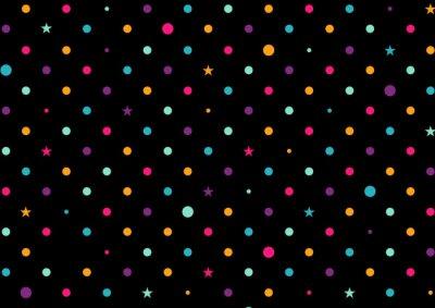 Fototapeta Barevné tečky Černé pozadí vektorové ilustrace