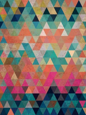 Fototapeta Barevné trojúhelníky se starožitným styl pozadí