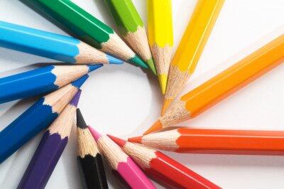 Fototapeta barevné tužky