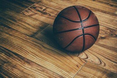 Fototapeta Basketbal na dřevěné 1