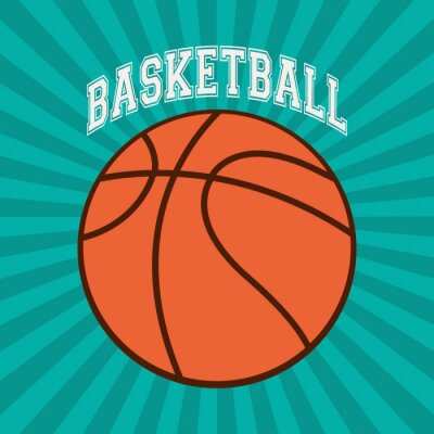 Fototapeta Basketbal sportovní design
