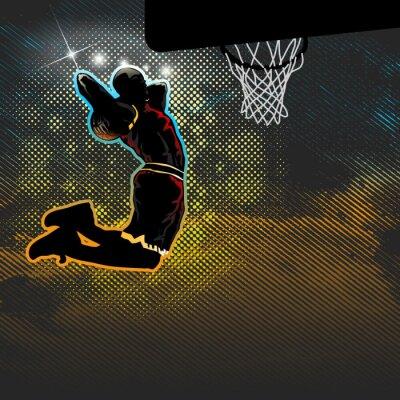 Fototapeta Basketbalista platí i pro obouruční namočit