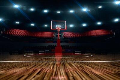 Fototapeta Basketball court. Sport arena.