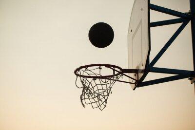 Fototapeta basketball over the ring