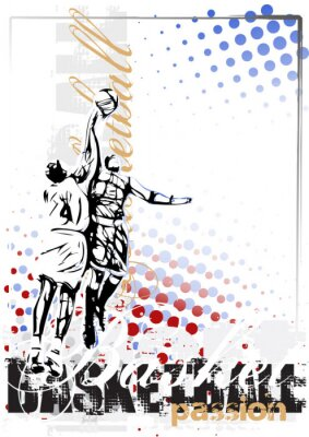 Fototapeta basketball vector poster background
