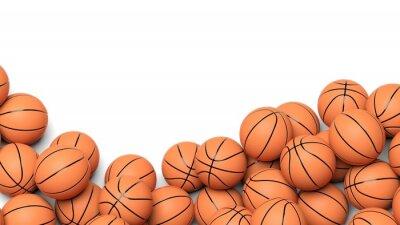 Fototapeta Basketbalové míče izolovaných na bílém pozadí