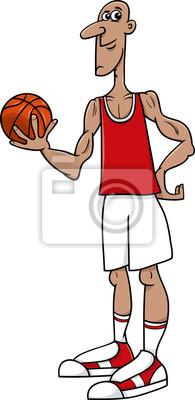 Basketbalovy Hrac Kreslene Ilustrace Fototapeta Fototapety Turnaj