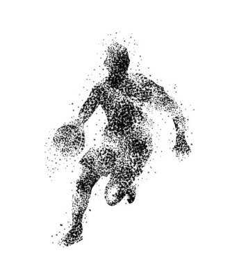 Fototapeta basketbalový hráč, silueta
