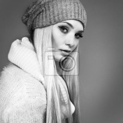 Fototapeta beautiful whiteheaded girl in a sportwear, fashion style