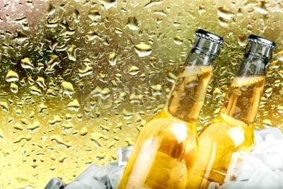 Fototapeta Beer, pivní láhev, Ice.