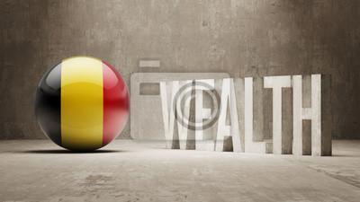 Belgie. Bohatství Concept.