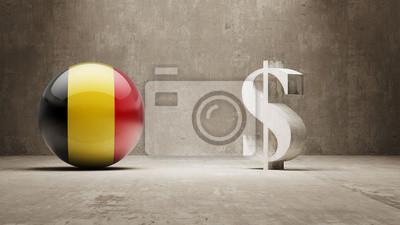 Belgie. Peníze Sign koncept.