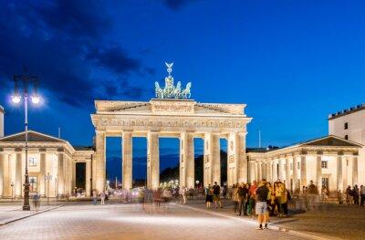 Fototapeta Berlín - 4.8.2013: Brandenburg Gate 4. srpna v Německu