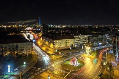 Fototapeta Berlín Stadtleben bei Nacht