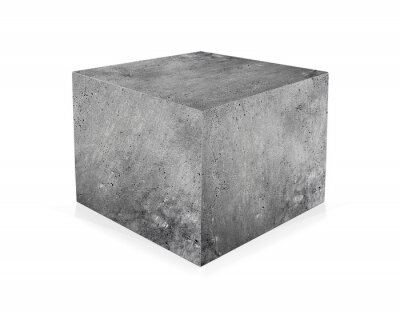 Fototapeta Betonová krychle izolovaný