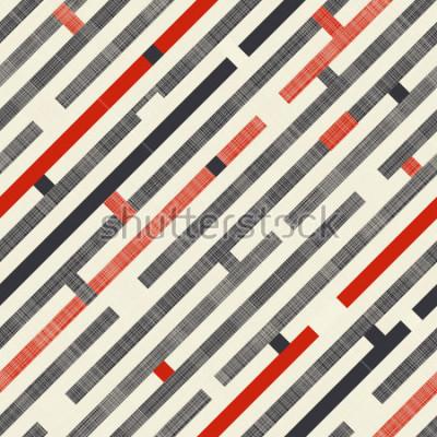 Fototapeta Bezešvá abstraktní vzor s diagonálními pruhy na pozadí textury v retro barvách. Nekonečný vzorec může použít pro keramické dlaždice, tapety, linoleum, textil, pozadí webových stránek.