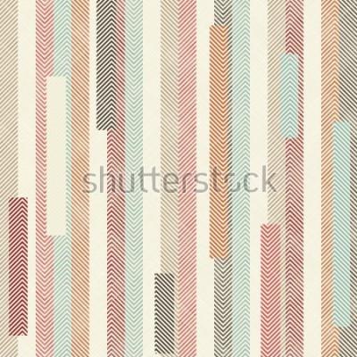 Fototapeta Bezešvé abstraktní barevné pruhované vzorek. Nekonečný vzorec může použít pro keramické dlaždice, tapety, linoleum, textil, pozadí webových stránek.