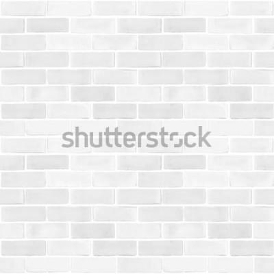 Fototapeta Bezešvé cihlová zeď bílá šedá barva vzor textury pozadí