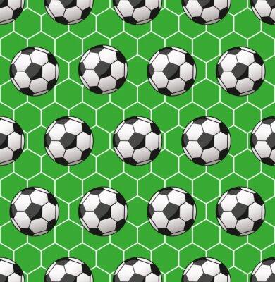 Fototapeta bezešvé fotbalový vzor