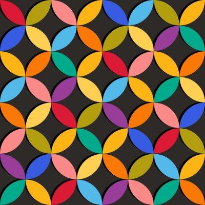 Fototapeta Bezešvé geometrický vzor s barevnými prvky