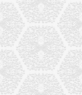 Fototapeta Bezešvé květinový vzor v tradičním stylu