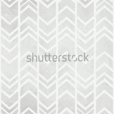 Fototapeta Bezešvé pozadí akvarelové barvy s kmenovým ikat akvarelem