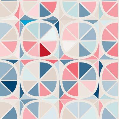 Fototapeta bezešvé pozadí s abstraktními geometrickými tvary