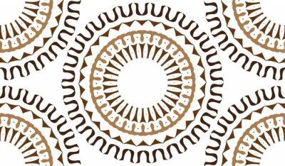 Fototapeta Bezešvé pozadí z kruhových vzorů. Bezešvé modely z tvarů barvy. Ve tvaru hvězdy vzor.