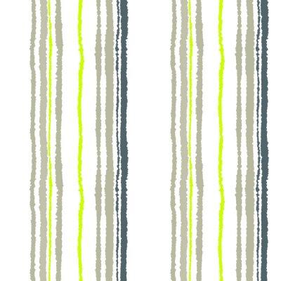 Fototapeta Bezešvé proužek vzor. Svislé čáry s potrhaný papír efekt. Skartovat hrana pozadí. Studená měkká šedá, olivová, bílé barvy. Zimní téma. Vektor