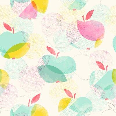 Fototapeta bezešvé vzor s jablky