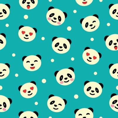 Fototapeta Bezešvé vzor s pandou. Vektorové ilustrace.