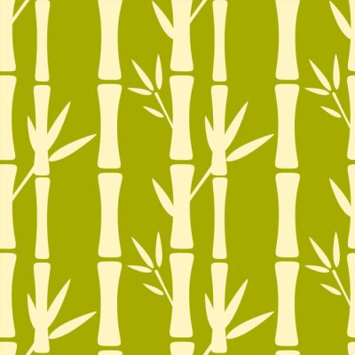 Fototapeta Bezešvé vzor se siluety bambusů
