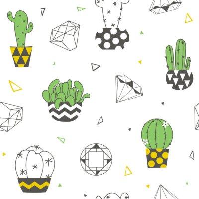 Fototapeta Bezešvé vzorek s legračními kaktusy