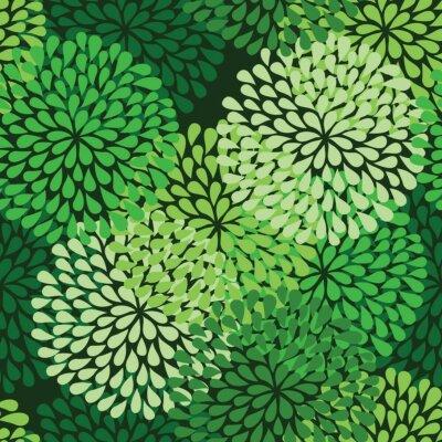Fototapeta bezešvé zelený vzor ve vektoru