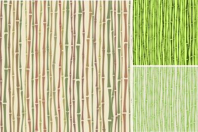 Fototapeta bezešvých textur s bambusovými stonky