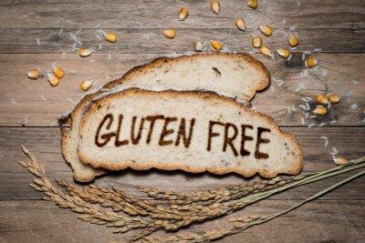 Fototapeta Bezlepkových logo na grilu na chleba
