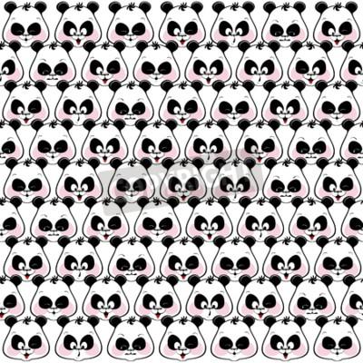 Fototapeta Bezproblémová barevné pozadí legrační čenichy pand. illustratio