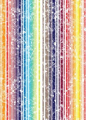 Fototapeta Bezproblémová jasný styl grunge ošumělý plně barevný proužek vzor. PROTI