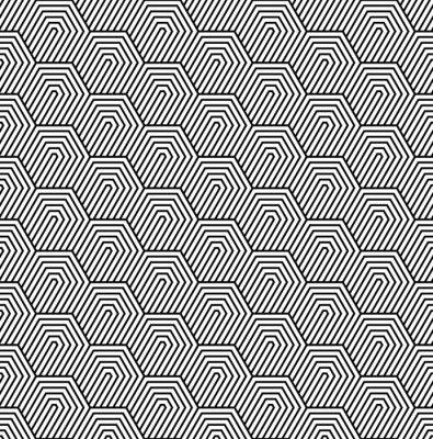 Fototapeta Bezproblémové vzor vektor. Moderní elegantní texturu. Monochromatický geometrický vzor s šestiúhelníkové dlaždice.